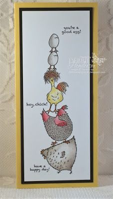 handmade greeting card from Debbie's Designs: Hey, Chick! pyramid of chickens legged eggs . Stampin' Up! Stampin Up Karten, Stamping Up Cards, Bird Cards, Animal Cards, Pretty Cards, Funny Cards, Cool Cards, Creative Cards, Greeting Cards Handmade