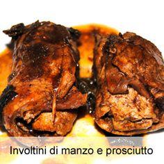 involtini di carne ripieni di prosciutto cotto e formaggio