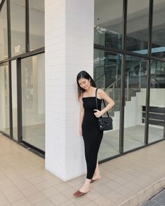 Yesterday's date night outfit 🖤 (also one of the best bodycon dresses i've ever worn - super thick fabric with lots of stretch from… Lil Black Dress, Jumpsuit, Bodycon Dress, Good Things, Night, Fabric, Outfits, Dresses, Style