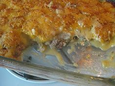 This recipe for Too Easy Hotdish came from the Hannah Swensen mystery series, by Joanna Fluke.  There's a lot of cookie recipes in her books, as the heroine of the series owns a cookie shop.