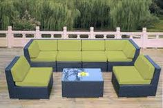 Ohana Collection Genuine Ohana Outdoor Patio Wicker Furniture All Weather Gorgeous Couch Set with Free Patio Cover Sectional Patio Furniture, Outdoor Wicker Furniture, Patio Furniture Covers, Outdoor Rocking Chairs, Home Depot, Solar, Lounge, Couch Set, Ohana