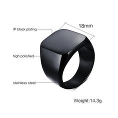 Find More Rings Information about Titanium Black Men Rings Wedding bands Classic Boyfriend gift Size 7 12,High Quality ring gift box,China ring couple Suppliers, Cheap ring gift from MSX Fashion Jewelry on Aliexpress.com