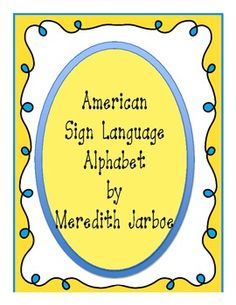 This alphabet was created to be posted in your classroom. It is cute bright colored American Sign Language Alphabet. Each page can be printed and laminated to hang in your classroom.