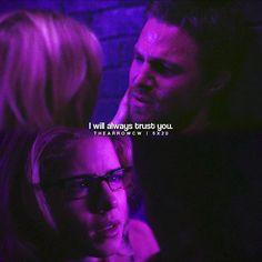 "#Arrow 5x20 ""Underneath"" - I will always trust you."" - #OliverQueen #FelicitySmoak"