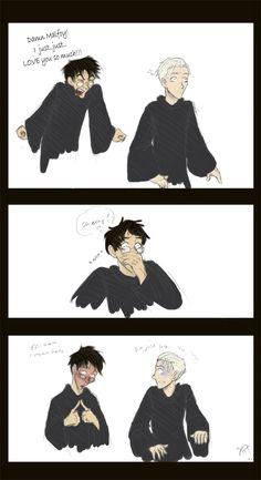 Drarry is so cute! Harry Potter Comics, Draco Harry Potter, Harry Potter Draco Malfoy, Harry Potter Ships, Harry Potter Anime, Harry Potter World, Harry Potter Memes, Drarry, Darry Fanart
