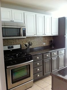 How to paint over oak kitchen cabinets