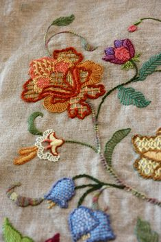 All sizes   crewel embroidery pillow   Flickr - Photo Sharing!