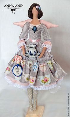 Handmade and ever so cuuuuute. Doll Home, Sock Animals, Sewing Dolls, Fairy Dolls, Diy Toys, Doll Patterns, Diy Clothes, Handmade, Chiffons
