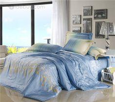 4ピース寝具セット新着ソフトカラープリント綿100%