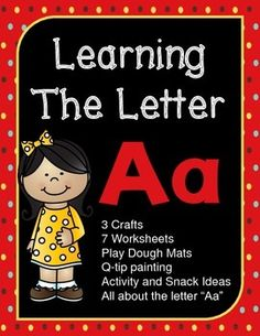 This free packet has more than a weeks worth of fun stuff to help your little ones learn everything about the letter A!  3 crafts, 7 worksheets, play dough mats, Q-tip painting, plus activity and snack ideas.  Hope you enjoy this packet!  Your feedback is always appreciated.
