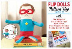 Flip Dolls Pattern Hop - April 21-25. Pattern hop, Link up and Book Give aways!