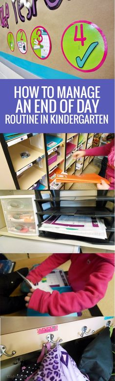 How to Manage an End of Day Routine in Kindergarten - steps in photos