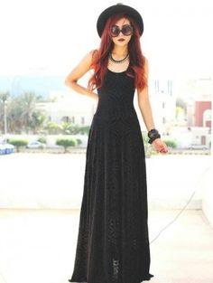 maxi vestidos negros