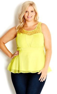 Peplum shirts are so fun and good for curves!
