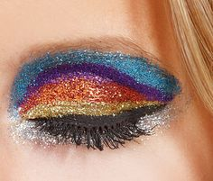 Glitter Glamour Glitterbug makeup look - glitter colors for eyes