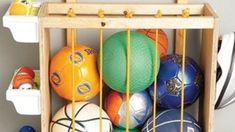 Sport equipment storage ideas
