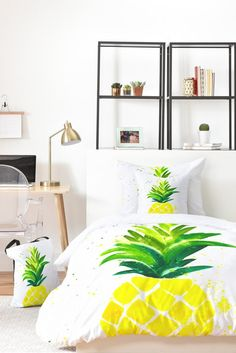 Laura Trevey Pineapple Sunshine Bed In A Bag | DENY Designs Home Accessories