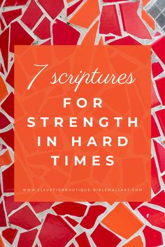 7 Scriptures for Strength and Encouragement In Hard Times Motivational Bible Verses, Inspirational Quotes About Strength, Scripture Quotes, Scriptures About Strength, Bible Quotes For Women, Encouragement Scripture, Christian Encouragement, Shadow Of The Almighty, Christian Women