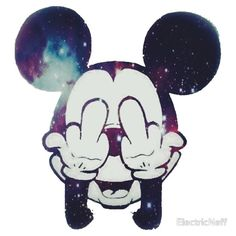 "Mickey Mouse FUCK OFF ""TRIPPY"""