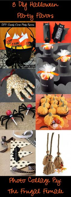 8 DIY Halloween Party Favors