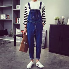 932851102b66 Spring Summer Style Fashion Casual Mens Denim Overalls Jumpsuit