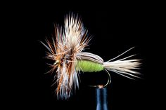 Fishing Flies River Flies Humpy Trout Flies 6 Pack  Olive Humpies Size 10