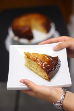 banana caramel upside down cake