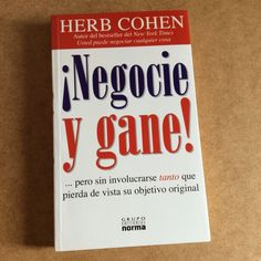 ¡NEGOCIE Y GANE! HERB COHEN Paperback Book Business Libro NEGOTIATE THIS Negocio