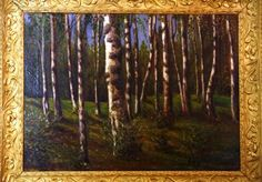 """Grand Duchess Olga Alexandrovna Oil Painting """"Spring Forest Scene"""" - The Montana Collection - Tsar's Palace Treasures"""