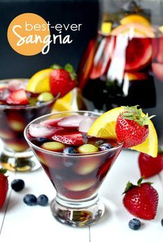 Best-Ever Sangria takes minutes to prepare, and is lightly sweet and perfectly refreshing. | iowagirleats.com