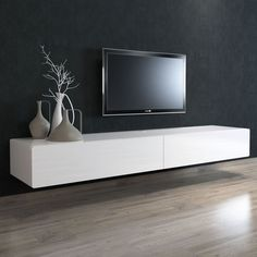 BRANDO Floating Entertainment Unit - CitySide Furniture brings you a range of premium entertainment units and furniture for less. We are the manufactures, importers and retailers cutting . Floating Tv Console, Floating Tv Unit, Floating Cabinets, Floating Tv Stand Ikea, Ikea Stand, Floating Entertainment Unit, Tv Wall Decor, Tv On Wall, Muebles Living