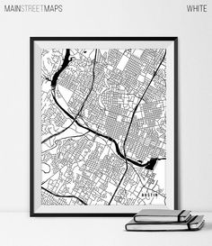 Indianapolis Map Art Print, Indianapolis City Map of Indianapolis ...