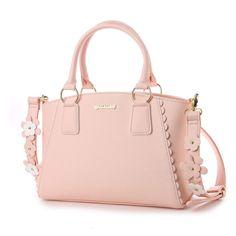 リズリサ LIZ LISA パスティー 花モチーフ使いショルダーストラップ付2WAYバッグ (ピンク) -靴とファッションの通販サイト ロコンド