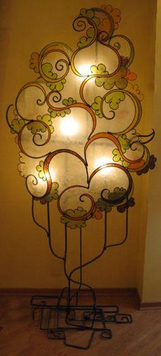 Italian artisan lamps. This one has a vellum screen.