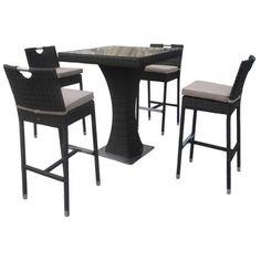 Maze Rattan Furniture 4 Seat Garden Bar Set