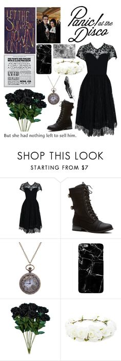 """Panic! At The Disco- Ballad of Mona Lisa"" by slytherinavenger ❤ liked on Polyvore featuring Pauline Trigère, Harper & Blake and Forever 21"