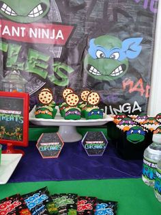 Triston's 1st TMNT party | CatchMyParty.com
