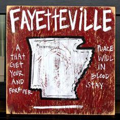 Fayetteville, AR via bourbonandboots.com