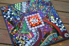 Another view.......mosaic table for Girls Nite! Wise Crackin' Mosaics