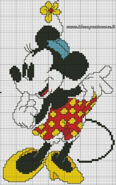 křížkové vyšívání mickey mouse