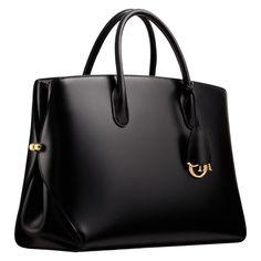 """DIORBAR - Bolsa grande """"DiorBar"""" em couro preto"""