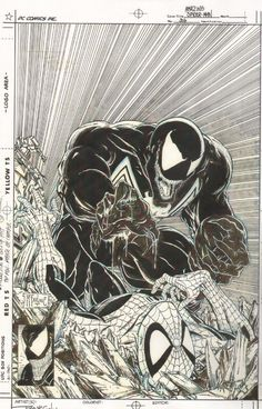 McFarlane's iconic Spiderman cover featuring Venom