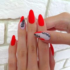 Nail Extensions With Gel polish only @ 999 /- + Manicure Or Pedicure Free. NAILS HEAVEN 👉 Lowest Price Guarantee Nailart Salon❤️ Address: floor Ajanta Apt, Old RTO Road, warasia, Vadodara christmasnails Matte Pink Nails, Red Acrylic Nails, Green Nails, Matte Red, Red Nail, Cute Nails, Pretty Nails, My Nails, Diva Nails