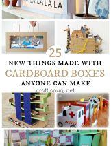 New cardboard box projects