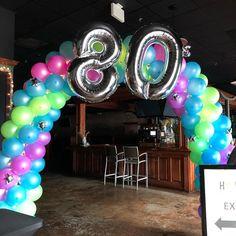 Neon Balloon Arch 80s style
