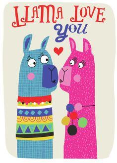 Image result for tarjetas de  llama
