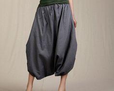 Casual Linen Blouse Three quarter Sleeve от FashionColours на Etsy