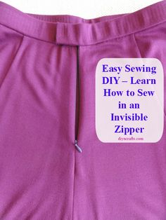 Easy Sewing DIY – Learn How to Sew in an Invisible Zipper