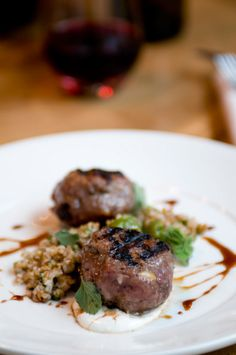 Lamb Meatballs with Currants and Pine Nuts from Bluestem Brasserie
