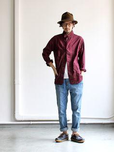GRAMICCI Guramichi NN Denim Pants (narrow denim pants) GMP-15F002 Asian Style, Men Looks, Denim Pants, Fasion, Swag, Normcore, Menswear, Street Style, Collections